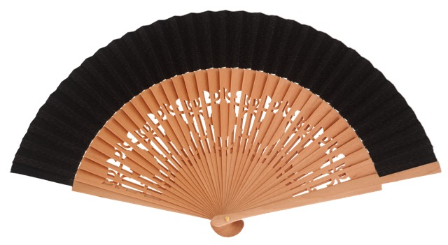 Wooden fan in colors 4058NTN