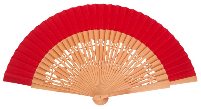 Wooden fan in colors 4058NTR