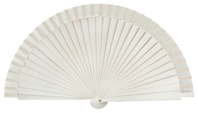Wooden fan in colors 4060BLA