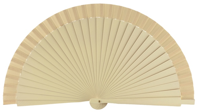 Wooden fan in colors 4060MFL