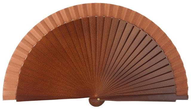 Abanico madera 19cm liso 4060NOG