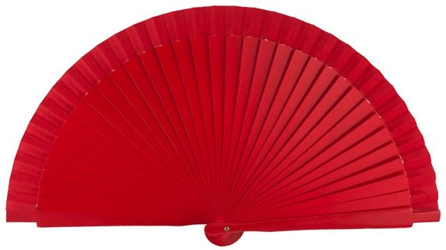 Wooden fan in colors 4060ROJ