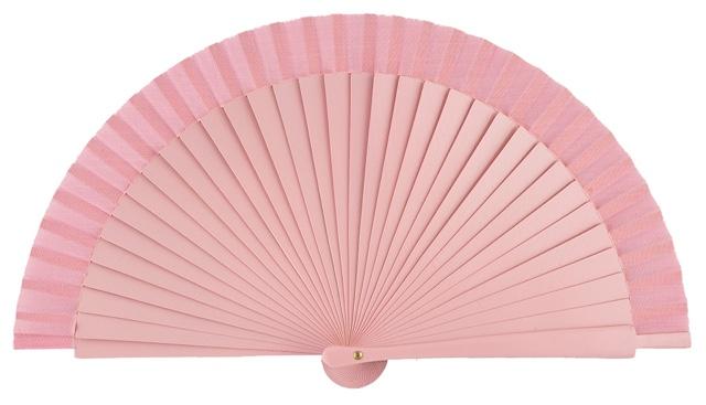 Wooden fan in colors 4060ROS