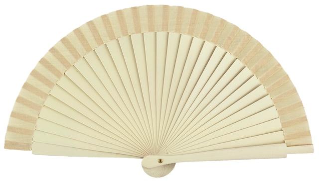 Wooden fan in colors 4063MFL