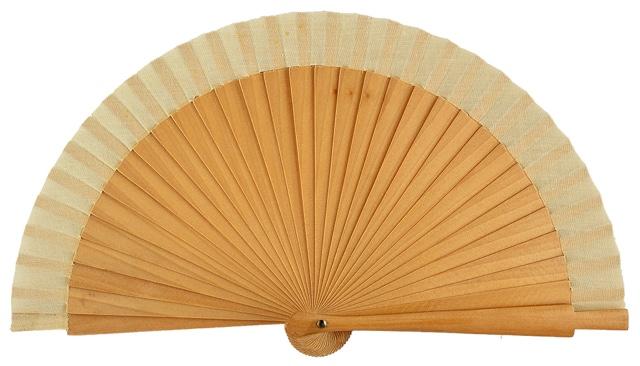 Wooden fan in colors 4063NAT