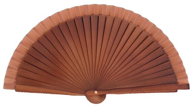 Wooden fan in colors 4063NOG