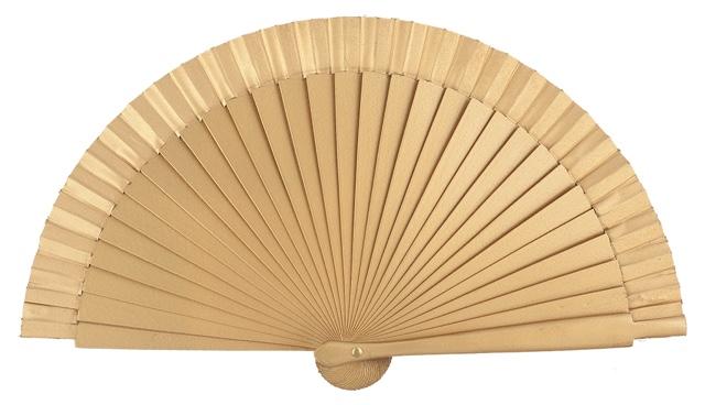 Wooden fan in colors 4063ORO