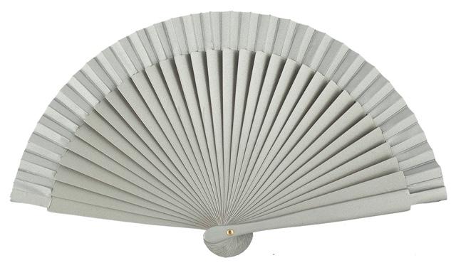 Wooden fan in colors 4063PLA