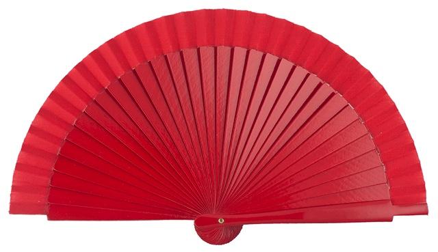 Wooden fan in colors 4063ROJ