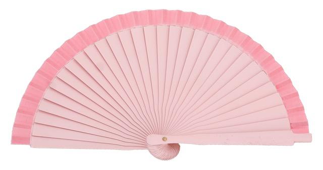 Wooden fan in colors 4063ROS