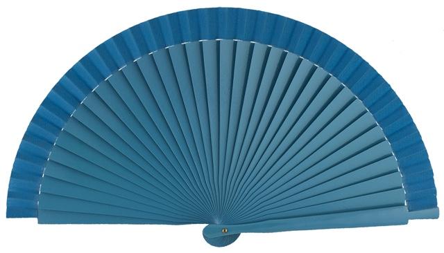 Wooden fan in colors 4063TUR