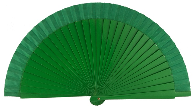 Wooden fan in colors 4063VER