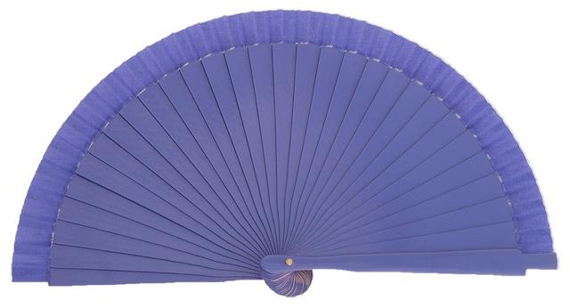 Wooden fan in colors 4063VIO