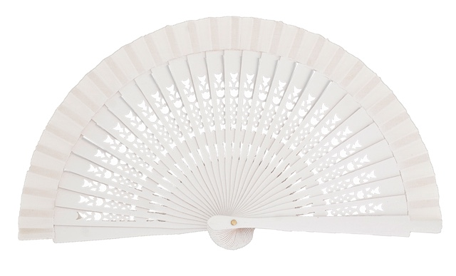 Wooden fan in colors 4064BLA