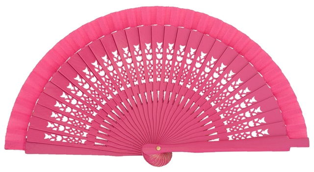 Wooden fan in colors 4064FUC
