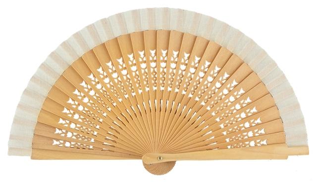 Wooden fan in colors 4064NAT