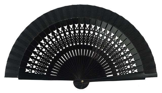 Wooden fan in colors 4064NEG