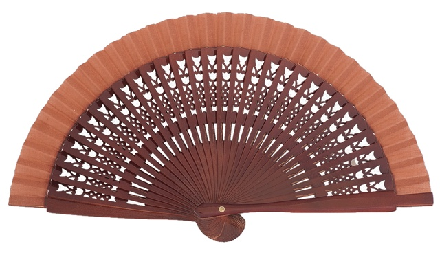 Wooden fan in colors 4064NOG