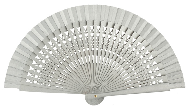 Wooden fan in colors 4064PLA
