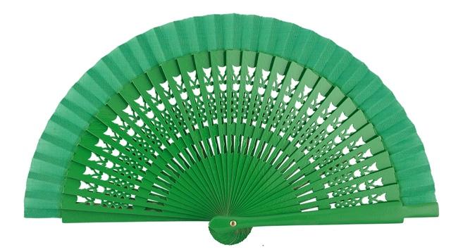 Wooden fan in colors 4064VER