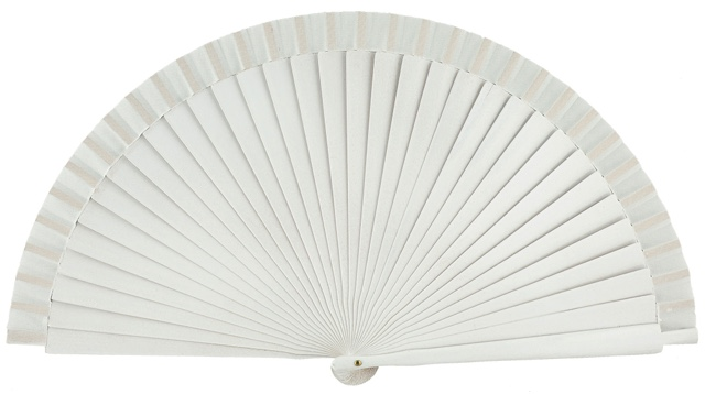 Wooden fan in colors 4066BLA