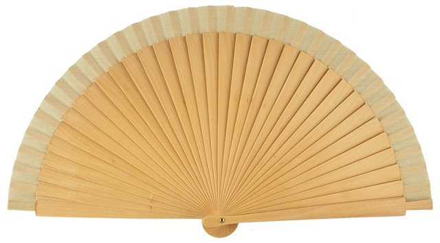 Wooden fan in colors 4066NAT