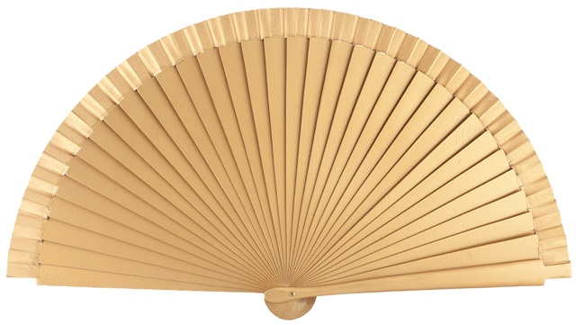 Wooden fan in colors 4066ORO