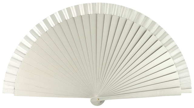 Wooden fan in colors 4066PLA