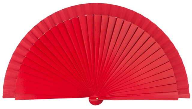 Wooden fan in colors 4066ROJ