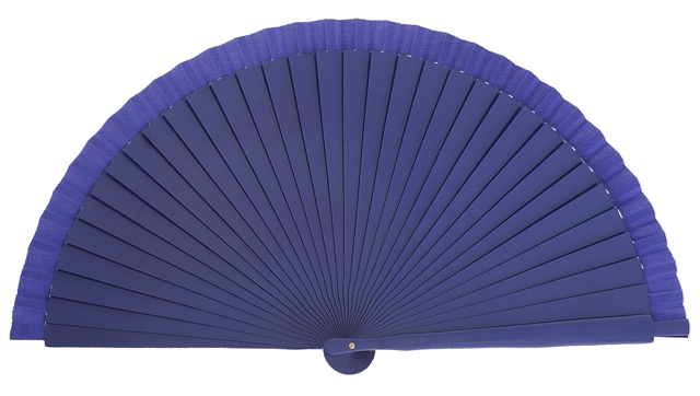 Wooden fan in colors 4066VIO