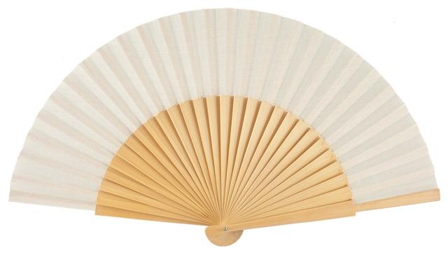 """Semi-pericon"" wooden fan 4144NAT"