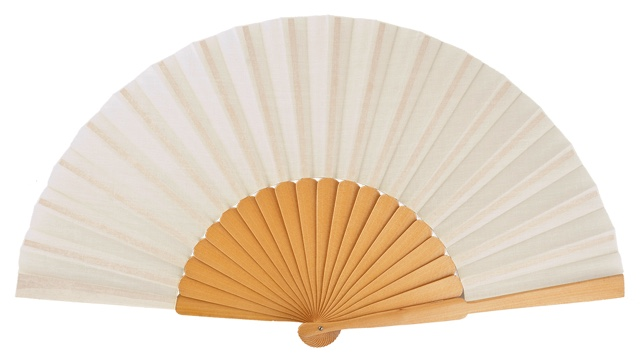 """pericon"" wooden fan 4145NAT"