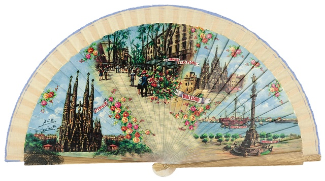 Wooden fan souvenir collections 4229IMP