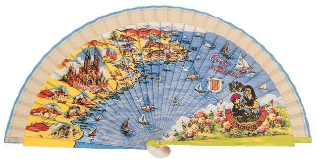 Wooden fan souvenir collections 4232IMP