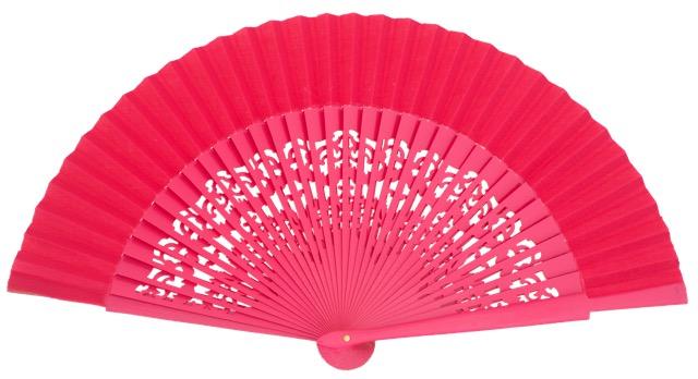 Wooden fan in colors 4319FUC