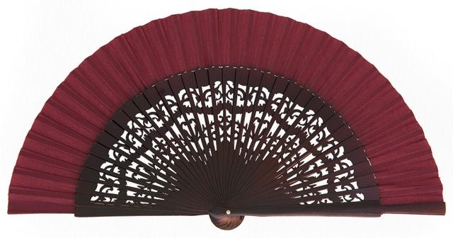 Wooden fan in colors 4319GRA