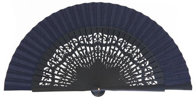 Wooden fan in colors 4319MAR