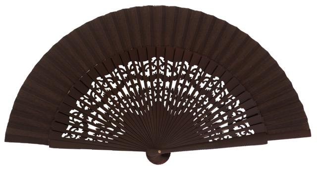 Wooden fan in colors 4319MRR