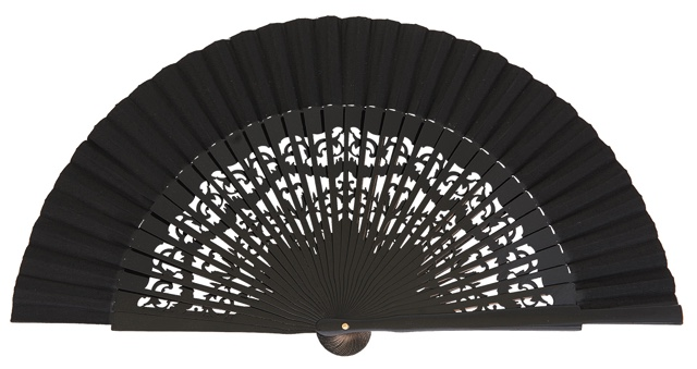 Wooden fan in colors 4319NEG