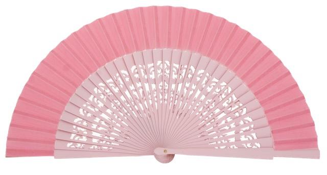 Wooden fan in colors 4319ROS