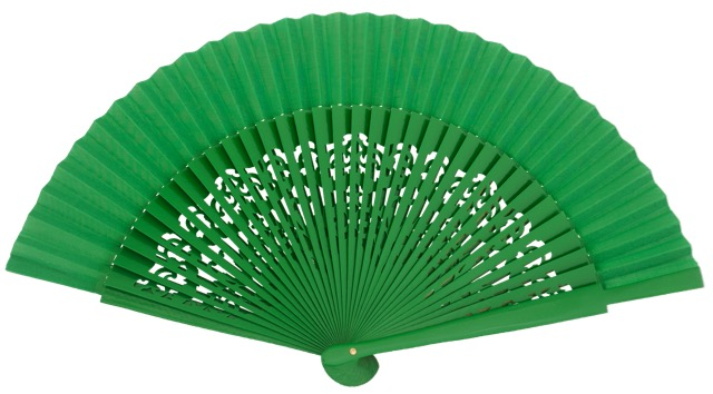Wooden fan in colors 4319VER