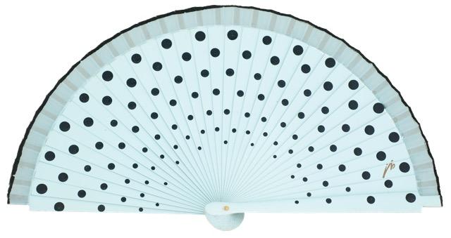 Wood fan with polka dots 4390CEN