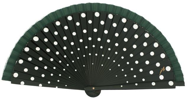 Wood fan with polka dots 4390VBB