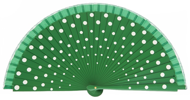 Wood fan with polka dots 4390VEB