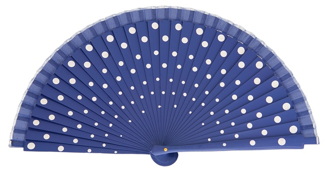 Wood fan with polka dots 4390VIB