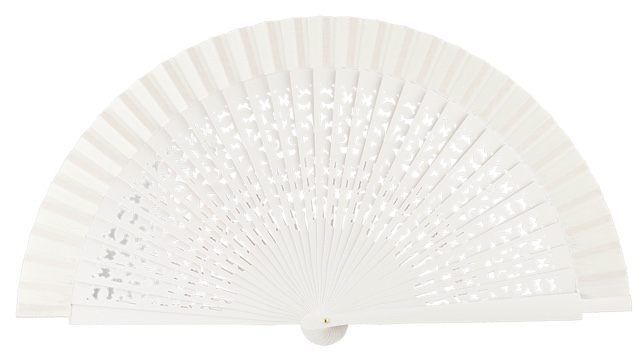 Wooden fan in colors 4409BLA