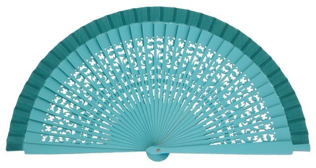 Wooden fan in colors 4409ESM