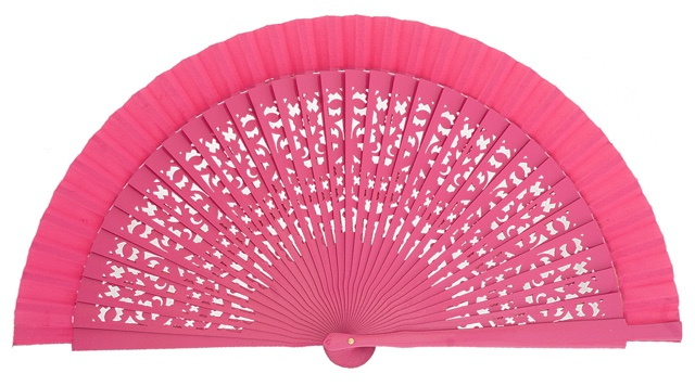 Wooden fan in colors 4409FUC