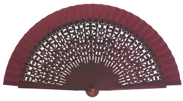Wooden fan in colors 4409GRA
