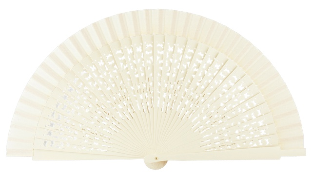 Wooden fan in colors 4409MFL